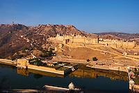 Inde, Rajasthan, Jaipur la ville rose, le fort d'Amber // India, Rajasthan, Jaipur the pink city, Amber fort