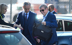 © Licensed to London News Pictures. 06/06/2016. Luton, UK. England manager ROY HODGSON holding his bags as he arrives at the airport, before Members of England national football squad board a plane at Luton airport in Bedfordshire, England, to head for their training camp in France, ahead of the start of the UEFA Euro 2016 championships.  Photo credit: Ben Cawthra/LNP