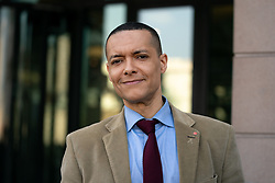 © Licensed to London News Pictures. 29/03/2019. Clive Lewis MP seen in Westminster as a Leave Means Leave demonstration takes place in Westminster on the day that Britain was originally due to leave the European Union. MPs today rejected Theresa May's withdrawal deal for the third time. Photo credit : Tom Nicholson/LNP