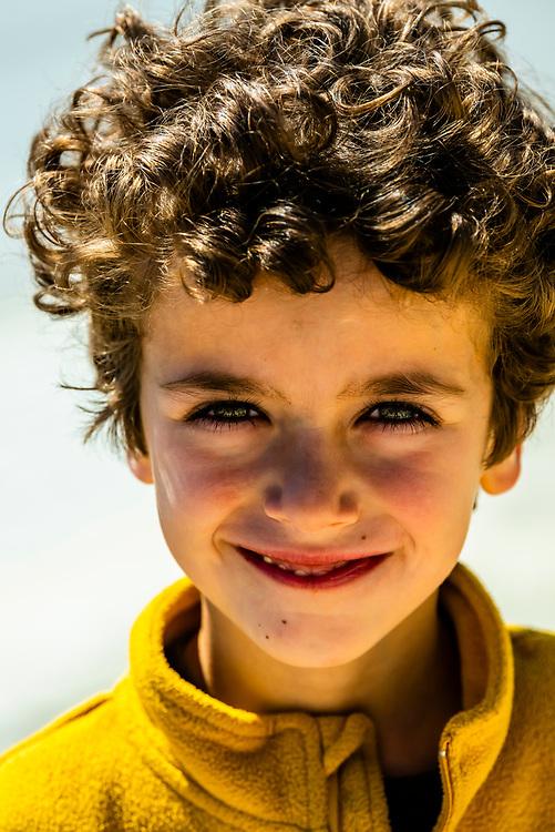 5 year old Spanish boy, Galera, Granada Province, Andalusia, Spain.