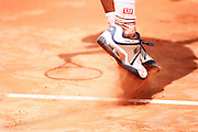 Roland Garros. Paris, France. May 28th 2006. Hartfield serves against Federer during the first tour of the tennis french open. Federer won 7-5, 7-6, 6-2.