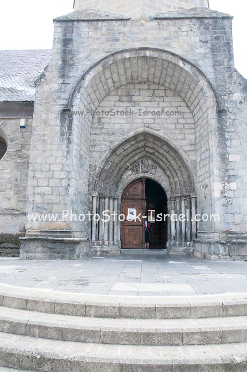 Sant Miquèu de Vielha church at Vielha e Mijaran, Aran, Catalonia, Pyrenees, Spain