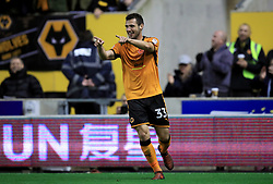 Wolverhampton Wanderers' Leo Bonatini celebrates scoring his side's second goal of the game during the Sky Bet Championship match at Molineux, Wolverhampton.