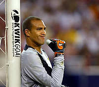 Photo Aidan Ellis.<br />Manchester United v juventus (Champions World Match at New York Giants Stadium East Rutherford).31/07/03.<br />United's new keeper Tim Howard in his 1st game for united