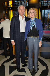 ALLEGRA HICKS and ROBERTO MOTTOLA d'AMATO at a VIP preview of the V&A's new exhibition 'The Glamour of Italian Fashion' - a comprehensive look at Italian Fashion from 1945-2014 held at The Victoria & Albert Museum, London on 2nd April 2014.