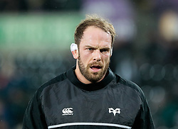 Ospreys' Alun Wyn Jones during the pre match warm up<br /> <br /> Photographer Simon King/Replay Images<br /> <br /> European Rugby Champions Cup Round 5 - Ospreys v Saracens - Saturday 13th January 2018 - Liberty Stadium - Swansea<br /> <br /> World Copyright © Replay Images . All rights reserved. info@replayimages.co.uk - http://replayimages.co.uk
