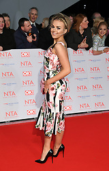 Tallia Storm attending the National Television Awards 2018 held at the O2, London. Photo credit should read: Doug Peters/EMPICS Entertainment