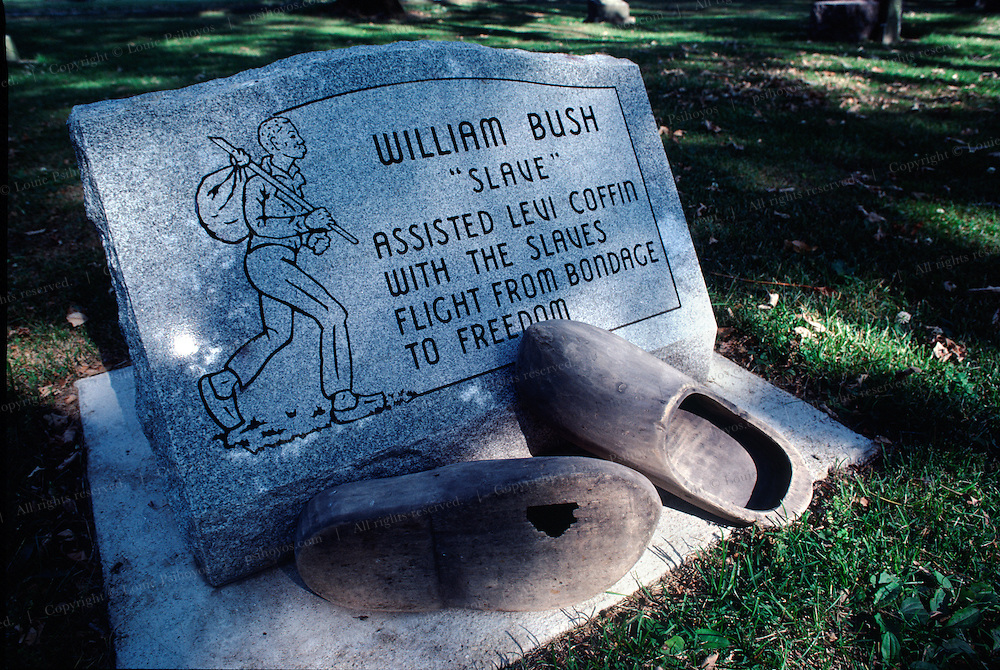Among the 2,000 slaves Levi Coffin assisted, William Bush, a  settler of Newport, reached Levi's house wearing wooden shoes.  William became a conductor for other runaway slaves.