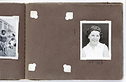 missing image in family photo album England 1950s
