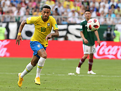 July 2, 2018 - Samara, Russia - July 2, 2018, Russia, Samara, FIFA World Cup 2018, 1/8 finals. Football match of Brazil - Mexico at the stadium Samara - Arena. Player of the national team Neimar  (Credit Image: © Russian Look via ZUMA Wire)