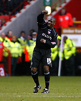 Photo: Chris Ratcliffe.<br />Charlton Athletic v Brentford. The FA Cup. 18/02/2006.<br />Isaiah Rankin of Brentford celebrates scoring a late consolation.