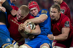 December 30, 2018 - Limerick, Ireland - John Ryan of Munster tackled by Rhys Ruddock of Leinster during the Guinness PRO14 match between Munster Rugby and Leinster Rugby at Thomond Park in Limerick, Ireland on December 29, 2018  (Credit Image: © Andrew Surma/NurPhoto via ZUMA Press)