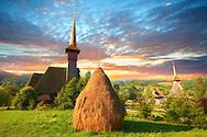 Hay rick at the Orthdox Monastry of Barsana, Maramures, Northern Transylvania