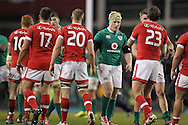 Ireland and Canada players shake hands at the end of the 2016 Guinness Series  autumn international rugby match, Ireland v Canada at the Aviva Stadium in Dublin, Ireland on Saturday 12th November 2016.<br /> pic by  John Halas, Andrew Orchard sports photography.