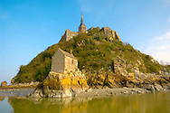 Saint Aubert's Chapel - Mont Saint-Michel - Brittany - France .<br /> <br /> Visit our MEDIEVAL PHOTO COLLECTIONS for more   photos  to download or buy as prints https://funkystock.photoshelter.com/gallery-collection/Medieval-Middle-Ages-Historic-Places-Arcaeological-Sites-Pictures-Images-of/C0000B5ZA54_WD0s