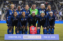 February 28, 2019 - Chester, United States - USA Team photo.during the She Believes Cup football match between The United States and Japan at Talen Energy Stadium on February 27, 2019 in Chester, Pennsylvania, United States. (Credit Image: © Action Foto Sport/NurPhoto via ZUMA Press)