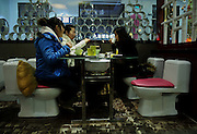 FUZHOU, CHINA - (CHINA OUT)<br /> <br /> A Restaurant With The Theme Of Toilet In Fuzhou<br /> <br />  A general view of a restaurant with the theme of toilet in Fuzhou, Fujian Province of China. <br /> ©ChinaFoto/Exclusivepix