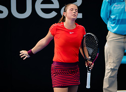 January 8, 2019 - Sidney, AUSTRALIA - Daria Kasatkina of Russia in action during the first round of the 2019 Sydney International WTA Premier tennis tournament (Credit Image: © AFP7 via ZUMA Wire)
