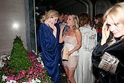 EMERALD FENNELL; ALICE NAYLOR-LEYLAND, Tatler magazine's  pyjama party sponsored by Thomas Pink. Claridge's. London. 7 July 2011.<br /> <br />  , -DO NOT ARCHIVE-© Copyright Photograph by Dafydd Jones. 248 Clapham Rd. London SW9 0PZ. Tel 0207 820 0771. www.dafjones.com.
