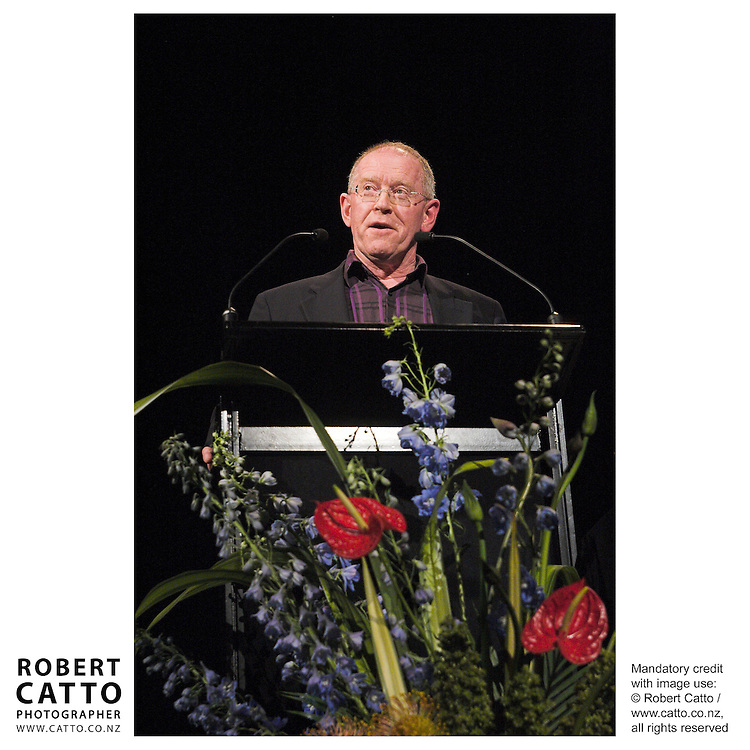 Denis Welch at the Arts Foundation of New Zealand New Generation Awards at the St James Theatre, Wellington, New Zealand.<br />