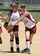 Middletown, NY - Town of Wallkilll players celebrate their victory over Chester in a Little League softball all-star game on June 27, 2007.
