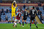 Barnsley goalkeeper Adam Davies (1) makes a save during the The FA Cup 3rd round match between Burnley and Barnsley at Turf Moor, Burnley, England on 5 January 2019.
