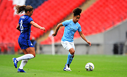 Melanie Leupolz of Chelsea Women competes with Demi Stokes of Manchester City Women- Mandatory by-line: Nizaam Jones/JMP - 29/08/2020 - FOOTBALL - Wembley Stadium - London, England - Chelsea v Manchester City - FA Women's Community Shield