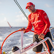 Leg 6 to Auckland, day 07 on board MAPFRE, Xabi Fernandez stearing, Dongfeng at the background. 13 February, 2018.