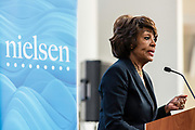 "WASHINGTON, DC -- 9/21/17 -- Congresswoman Maxine Waters hosts the unveiling of Nielsen's seventh annual Diverse Intelligence Series report on African-Americans at the Congressional Black Caucus Foundation annual conference. The 2017 report, ""African-American Women: Our Science, Her Magic"", details data and consumer insights on African-American women's consumer preferences and brand affinities that are driving total Black spending power toward a record $1.5 trillion by 2021..…by André Chung #_AC16768"