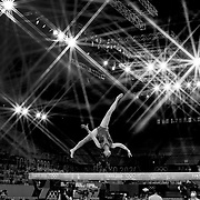 TOKYO, JAPAN - JULY 29: Sunisa Lee of the United States performs her routine on the balance beam during her gold medal performance in the All-Around Final for Women at Ariake Gymnastics Centre during the Tokyo 2020 Summer Olympic Games on July 29, 2021 in Tokyo, Japan. (Photo by Tim Clayton/Corbis via Getty Images)<br /> <br /> (Note to editors: A special effects starburst filter was used in the creation of this image)