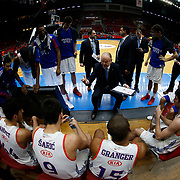 Anadolu Efes's and Trabzon's during their Turkish Basketball Spor Toto Super League match Anadolu Efes between Trabzon at the Abdi ipekci arena in Istanbul, Turkey, Sunday 06, December 2015. Photo by Aykut AKICI/TURKPIX