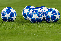 the Adidas Champions League ball season 2018-2019 DFL REGULATIONS PROHIBIT ANY USE OF PHOTOGRAPHS AS IMAGE SEQUENCES AND/OR QUASI-VIDEO. during the UEFA Champions League group D match between Schalke 04 and FC Porto at the Arena auf Schalke on September 18, 2018 in Gelschenkirchen, Germany