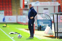 Cheltenham Town manager Michael Duff prior to kick off - Mandatory by-line: Nizaam Jones/JMP - 12/09/2020 - FOOTBALL - Jonny-Rocks Stadium - Cheltenham, England - Cheltenham Town v Morecambe - Sky Bet League Two