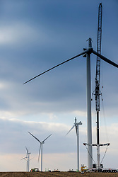 Wind Turbine at a wind farm in central Illinois. This unit has been damaged by an unknown event and is currently out of service pending repair.