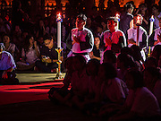 25 MARCH 2016 - BANGKOK, THAILAND:   Parishioners reenact the crucifixion during Good Friday observances at Santa Cruz Church in Bangkok. Santa Cruz was one of the first Catholic churches established in Bangkok. It was built in the late 1700s by Portuguese soldiers allied with King Taksin the Great in his battles against the Burmese who invaded Thailand (then Siam). There are about 300,000 Catholics in Thailand, in 10 dioceses with 436 parishes. Good Friday marks the day Jesus Christ was crucified by the Romans and is one of the most important days in Catholicism and Christianity.     PHOTO BY JACK KURTZ