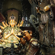 Some of the eclectic and ornate artwork at the Jade Emperor Pagoda in the Da Kao district of Ho Chi Minh City, Vietnam. The Chinese temple was built in 1909 and contains elements of both Buddhist and Taoist religions.
