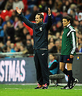 England Women Manager Mark Sampson issues instructions<br /> - Womens International Football - England vs Germany - Wembley Stadium - London, England - 23rdNovember 2014  - Picture Robin Parker/Sportimage