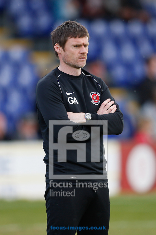 Picture by Andrew Tobin/Focus Images Ltd +44 7710 761829.27/04/2013. Fleetwood Town manager Graham Alexander looks on during the npower League 2 match at the Cherry Red Records Stadium, Kingston.