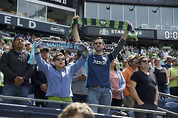 May 26, 2018 - Seattle, Washington, U.S - MLS Soccer 2018: Seattle Sounder fans during the pre-game introductions as the Seattle Sounders host Real Salt Lake in a MLS match at Century Link Field in Seattle, WA. (Credit Image: © Jeff Halstead via ZUMA Wire)