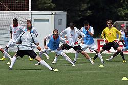 03.07.2010, Trainingsgelände, Nuernberg, GER, 1. FBL, Training 1. FC Nürnberg, im Bild Dehnübungen EXPA Pictures © 2010, PhotoCredit: EXPA/ nph/  Becher / SPORTIDA PHOTO AGENCY