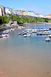Tenby harbour, Pembrokeshire, South Wales July 2021