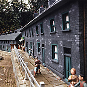 residential street and people in the bekonscot model village