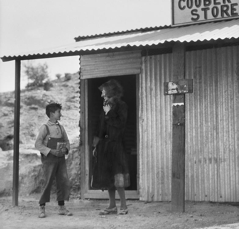 Miss Barrington visits a camp, Coober Pedy Opal Fields, 1930