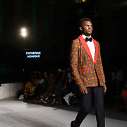 Designer Catherine Monique showcases its latest collection at the Africa Fashion Week London (AFWL) at Freemasons' Hall on 11 August 2018, London, UK.