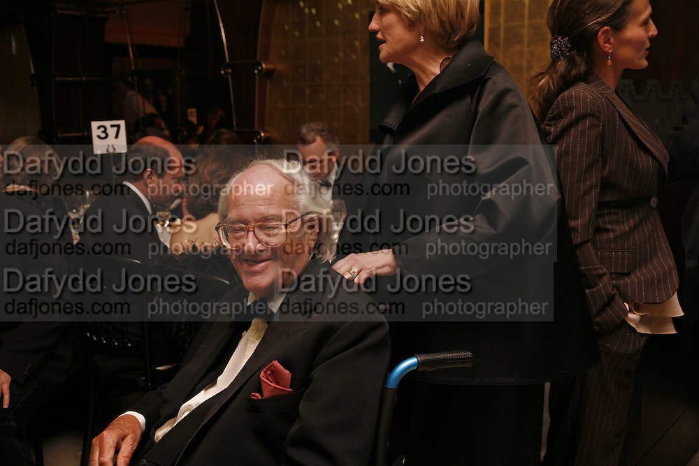 Sir John Mortimer, Royal Court Theatre 50th Anniversary Gala sponsored by Vanity Fair. Titanic. Brewer St. London. 26 April 2006. ONE TIME USE ONLY - DO NOT ARCHIVE  © Copyright Photograph by Dafydd Jones 66 Stockwell Park Rd. London SW9 0DA Tel 020 7733 0108 www.dafjones.com