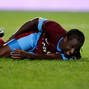 Trabzonspor's Souleyman Bamba during their Turkish Superleague soccer derby match Fenerbahce between Trabzonspor at the Sukru Saracaoglu stadium in Istanbul Turkey on Monday 24 September 2012. Photo by TURKPIX