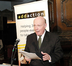 Anne Robinson speaking at an Addaction event in 2007, Mayfair, London, Great Britain <br /> 12th December 2007 <br /> <br /> <br /> Julian Alexander Kitchener-Fellowes, Baron Fellowes of West Stafford known as Julian Fellowes