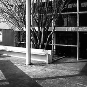La Plata, Argentina,1987: View of the sunshade of the main facade, Currutchet house (1949) at Av. 53-320 - La Plata - Le Corbusier arch - . Photographs by Alejandro Sala, (Historical archive AS)