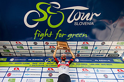 Stage winner Diego ULISSI of UAE TEAM EMIRATES celebrates at trophy ceremony after the 4th Stage of 27th Tour of Slovenia 2021 cycling race between Ajdovscina and Nova Gorica (164,1 km), on June 12, 2021 in Slovenia. Photo by Vid Ponikvar / Sportida