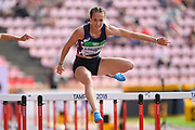 Sacha Alessandrini (FRA) competes in 100 Metres Hurdles Women during the IAAF World U20 Championships 2018 at Tampere in Finland, Day 4, on July 13, 2018 - Photo Julien Crosnier / KMSP / ProSportsImages / DPPI